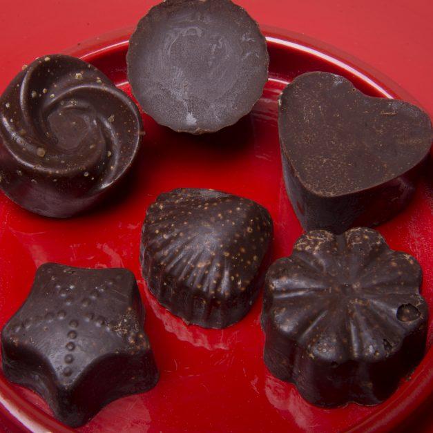 KuKu Chocolate pieces closeup