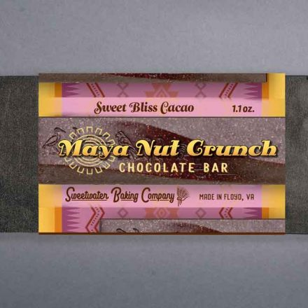 Maya Nut Crunch Chocolate Bar, Sweet Bliss Cacao