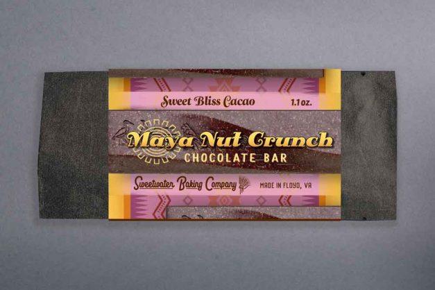 Maya Nut Crunch Chocolate Bar, Sweet Bliss Cacao
