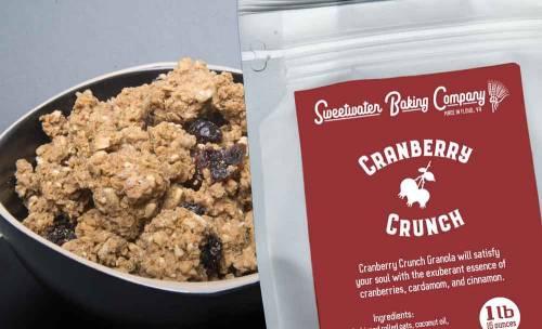 Cranberry Crunch, a wheat-free, organic, nutritious granola